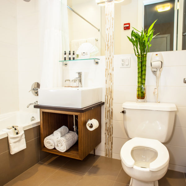Plush Twin Bathroom