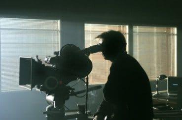 Silhouette of cameraman