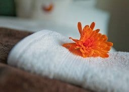 towel with flower